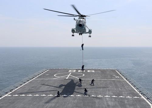 陆战队员进行滑降训练2(尚文斌 摄).jpg