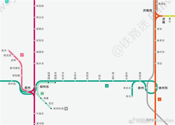 《中国高铁线路图2018年7月版》  ▲中国高速铁路及动车组运行线路