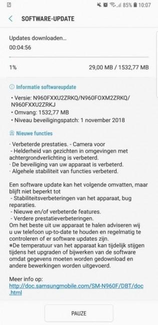 三星Note 9开启安卓9 .0 内测:全新One UI