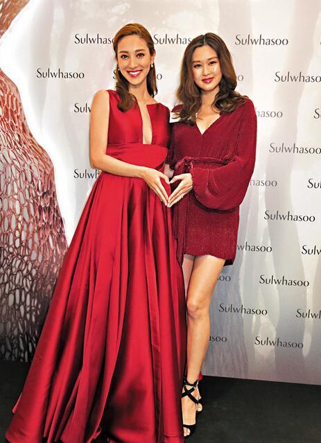 兩位準媽媽陳凱琳岑麗香出席活動 分享懷孕感受